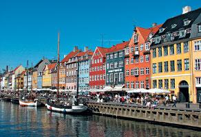 Набережная в Копенгагене (Дания)