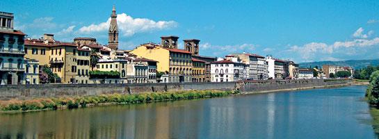 Набережная р. Арно во Флоренции (Италия)