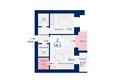 Микрорайон SCANDIS (Скандис) мкр, 3 дом: Планировка двухкомнатной квартиры 58,5 кв.м