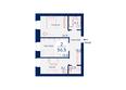 Микрорайон SCANDIS (Скандис) мкр, 3 дом: Планировка двухкомнатной квартиры 56,5 кв.м