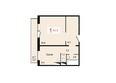 Жилой комплекс ДОМИНО ж/к, 3 дом: Планировка однокомнатной квартиры 42,3 кв.м