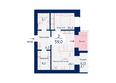 Микрорайон SCANDIS (Скандис) мкр, 3 дом: Планировка двухкомнатной квартиры 59 кв.м