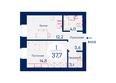 Микрорайон SCANDIS (Скандис) мкр, 4 дом: Планировка однокомнатной квартиры 37,7 кв.м