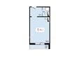 Жилой комплекс ТИХИЕ ЗОРИ мкр, 2 дом: Планировка однокомнатной квартиры 35,2 кв.м