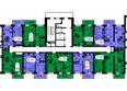 Жилой комплекс ТИХИЕ ЗОРИ мкр, 2 дом (Красстрой): 2 секция. Планировка 7 этажа
