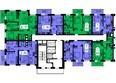 Жилой комплекс ТИХИЕ ЗОРИ мкр, 2 дом (Красстрой): 1 секция. Планировка 7 этажа