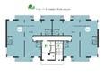 Green Park ж/к: Планировка 17-18 этажей, 2 б/с