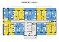 Жилой комплекс ОТРАЖЕНИЕ ж/к, 2 дом: 3-6 этажи, 1 секция