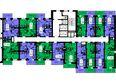 Жилой комплекс ТИХИЕ ЗОРИ мкр, 2 дом (Красстрой): 4 секция. Планировка 7 этажа