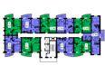 БЕЛЫЕ РОСЫ МКР, 27 дом: Блок-секция 2. Планировка типового этажа