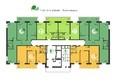 Green Park ж/к: Планировка 2-16 этажей, 1 б/с