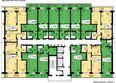 СЕРЕБРЯНЫЙ мкр, квр 1, 2 дом: Типовая планировка, д.2, секция 1
