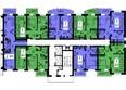 Жилой комплекс БЕЛЫЕ РОСЫ МКР, 22 дом: Типовой этаж, секция 2