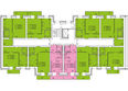 Жилой комплекс СНЕГИРИ ж/к,  2 дом: 2 секция 2-8 этаж