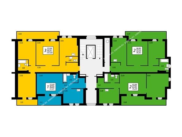 ПРЕОБРАЖЕНСКИЙ мкр, 20 дом: Блок 1, секция 1, 8 этаж