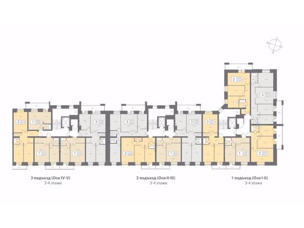 Планировки новостроек ДИНАСТИЯ ж/к, 1 этап - Планировка типового этажа
