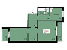 Отличная 2-комнатная на Киренского